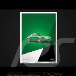 Porsche Poster 911 Carrera RS 1973 Vipergrün