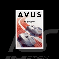 Porsche Poster Affiche Plakat Flèches d'argent Silver Arrows Silberpfeile Avus Rennen 1937