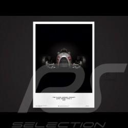 Porsche Poster Affiche Plakat Flèches d'argent Silver Arrows Silberpfeil Auto Union Type C 1937