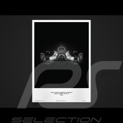 Porsche Poster Affiche Plakat Flèches d'argent Silver arrows Silberpfeile Auto Union Type D 1939