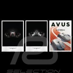 Set 3 Porsche Poster Affiches Plakat Flèches d'argent Silver arrows Silberpfeile Auto Union