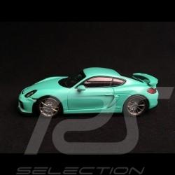 Porsche Cayman GT4 mint green 1/43 Minichamps CA04316073