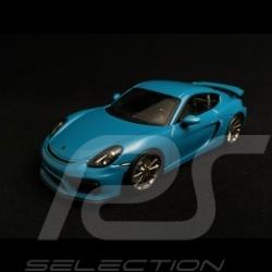 Porsche Cayman GT4 bleu Miami miami blue Miamiblau 1/43 Minichamps CA04316072
