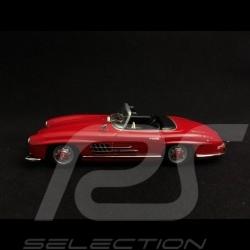 Mercedes Benz 300 SL roadster 1955 rouge pompier fire engine red Feuerwehrauto rot 1/43 Minichamps 940039031
