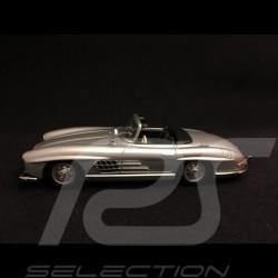 Mercedes Benz 300 SL roadster 1955 silver grey 1/43 Minichamps 940039030