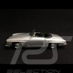 Mercedes Benz 190 SL roadster 1955 silver grey 1/43 Minichamps 940033130