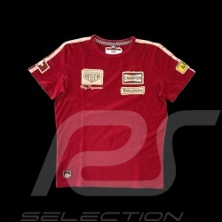 T-shirt Clay Regazzoni n° 4 rouge red rot  - homme men herren