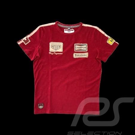 Polo shirt Clay Regazzoni n° 4 red - men