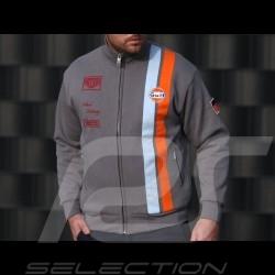 Veste jackrt jack Gulf Steve McQueen Le Mans molleton fleece gris grey grau - homme men herren