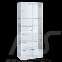 Vitrine 2 portes 6 étagères blanche Showcase 2 doors 6 shelves white Vitrine 2 türen 6 einlegeböden weiß fmd 102 101