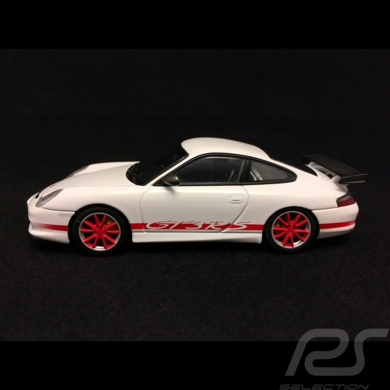 Porsche 911 type 996 GT3 RS 2004 white red stripes 1/43 Autoart 60470
