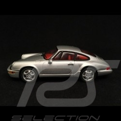 Porsche 911 type 964 Carrera 2 1989 gris argent silver grey silbergrau 1/43 Minichamps WAP02003497
