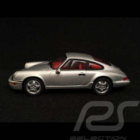 Porsche 911 type 964 Carrera 2 1989 silver grey 1/43 Minichamps WAP02003497