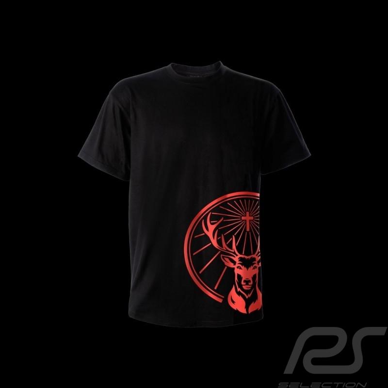 T shirt Jägermeister logo de coté noir homme