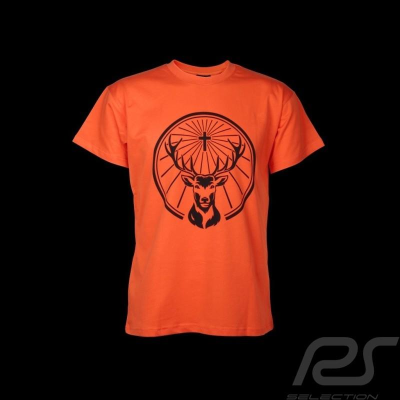 T shirt Jägermeister logo devant orange homme