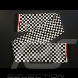 Foulard écharpe Gulf drapeau à damier filets rouge et blanc Scarf Schal necktie checkered flag karierte Flagge red rot white wei