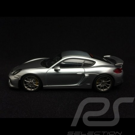 Porsche Cayman GT4 2015 Silver Rhodium metallic 1/43 Minichamps CA04316071