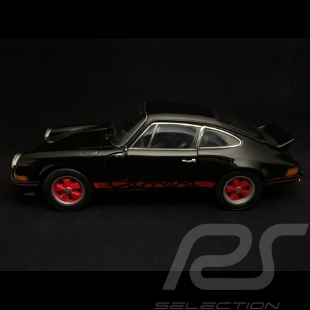 Porsche 911 2.7 Carrera RS 1973 black red stripes 1/18 Welly 18044BK
