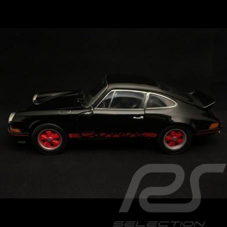 Porsche 911 2.7 Carrera RS 1973 noire bandes rouges black red stripes schwarz rote streifen 1/18 Welly 18044