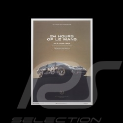 Le Mans Poster Ford GT40 MKII-A 1966 Noire Black Schwarz