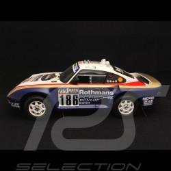 Porsche 959 Vainqueur Winner Sieger Dakar 1986 n° 186 1/18 Truescale TSM121807R