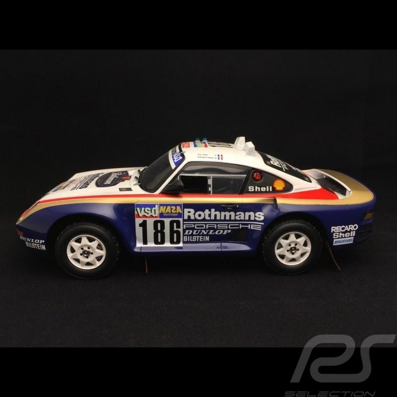 Porsche 959 winner Dakar 1986 n° 186 1/18 Truescale TSM121807R
