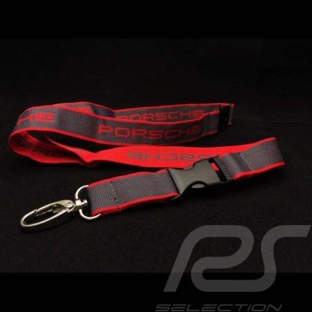 Porsche Schlüsselring Halsband rot und grau  Le Mans Motorsport collection Porsche Design WAP799