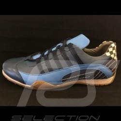 Sneaker / basket shoes style race driver Navy blue - men