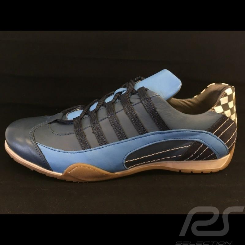 Chaussure Shoes Schuhe Sport sneaker / basket style pilote bleu marine navy blue marineblau - homme men Herren