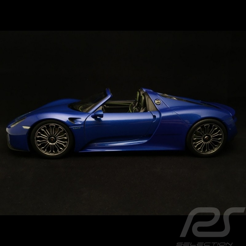 Porsche 918 Spyder 2015 bleue blue blau saphir sapphire opened offene version ouverte 1/18 Welly MAP02184416