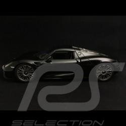 Porsche 918 Spyder 2015 noire black schwarz closed bedeckt version fermée 1/18 Welly MAP02184116
