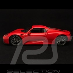 Porsche 918 Spyder 2015 rouge red rot closed bedeckt version fermée 1/18 Welly MAP02184016