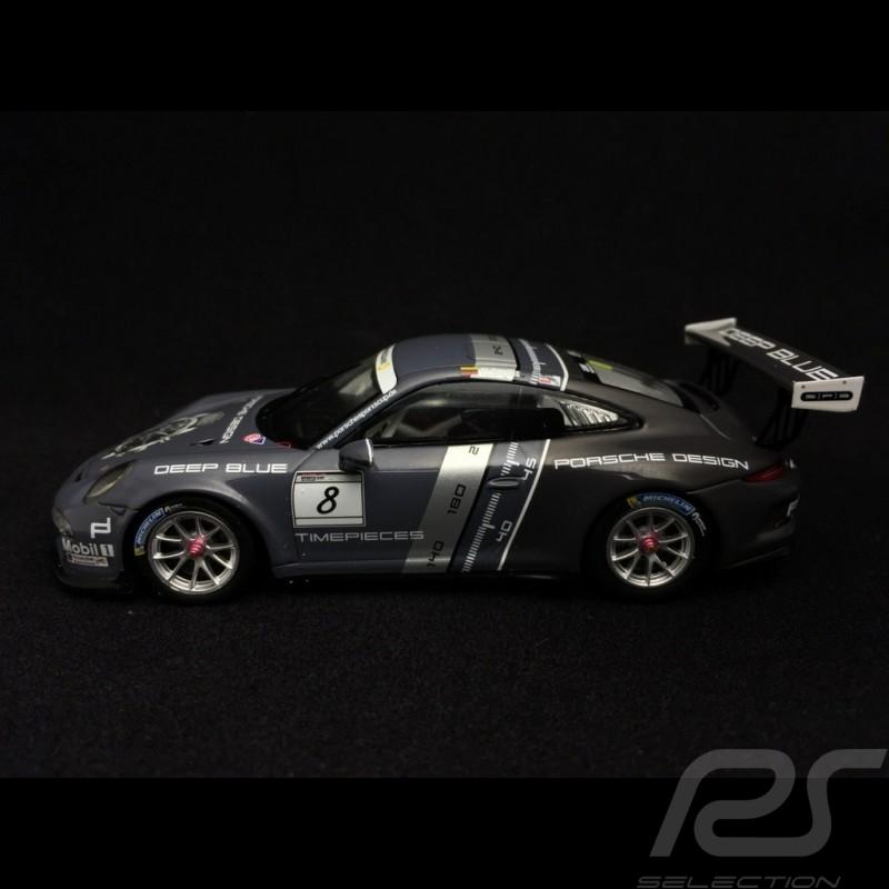 Porsche 911 GT3 Cup type 991 n° 8 2016 deep blue Porsche Design timepieces 1/43 Spark WAP0201540H