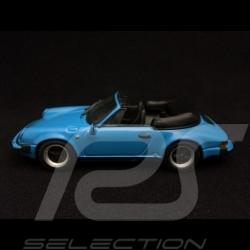 Porsche 911 3.0 SC Cabriolet 1983 bleu riviera blue rivierablau 1/43 Minichamps MAP02002815
