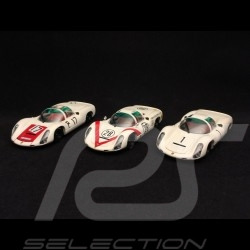 Trio Porsche 910 Nürburgring GP Japon Présentation Presentation Präsentation 1/43 Ebbro 638 639 640