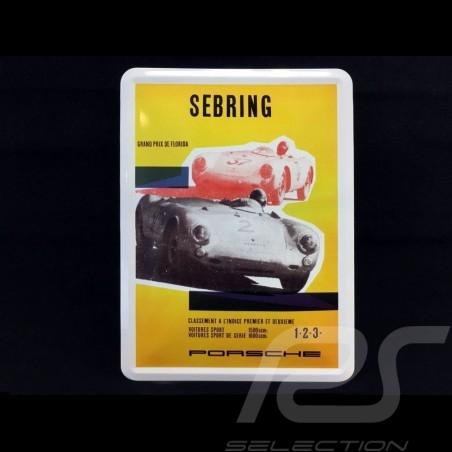 Carte postale Porsche métal avec enveloppe Porsche 550 Sebring Florida
