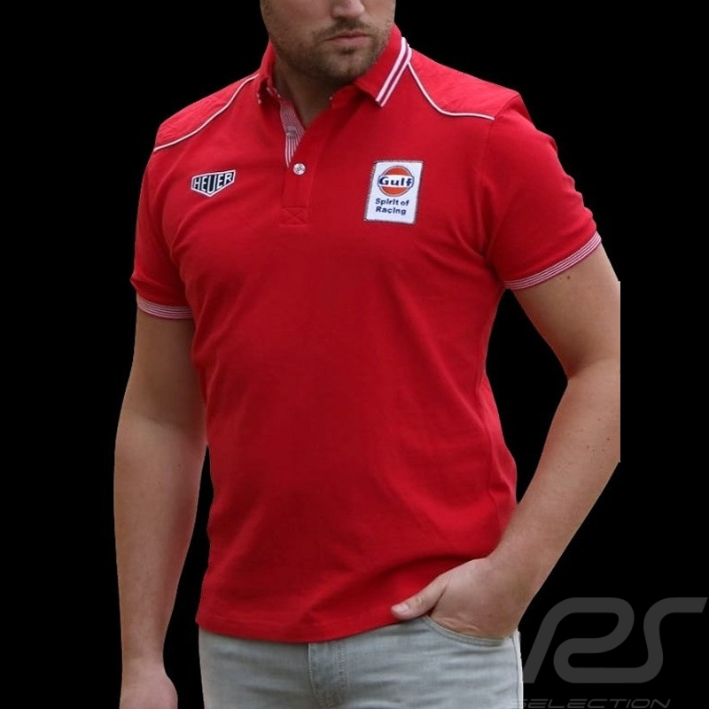 Polo shirt Gulf Spirit of Racing red - men
