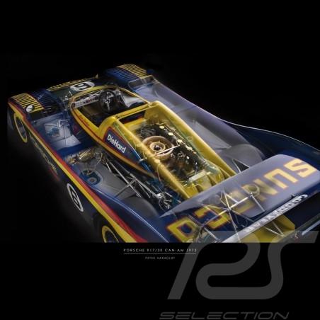 Poster Porsche 917 Can-Am printed on Plexiglass plate 40 x 60 cm Peter Haroldt