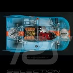 Affiche Porsche 908 imprimée sur plaque Plexiglass 40 x 60 cm Peter Harholdt