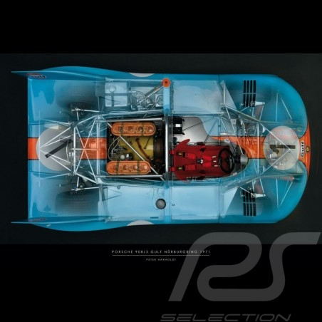 Poster Porsche 908 printed on Plexiglass plate 40 x 60 cm Peter Harholdt