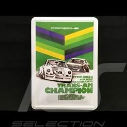 Carte postale Postcard Postkarte Porsche métal avec enveloppe 911 Carrera RSR Brumos Champion Trans Am