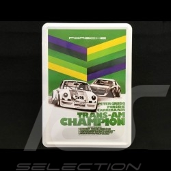 Postcard Porsche metal with envelope Porsche 911 Carrera RSR Brumos Trans Am Champion