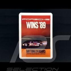 Carte postale Postcard Postkarte Porsche métal avec enveloppe Porsche  962 winner vainqueur sieger 24h Daytona 1989