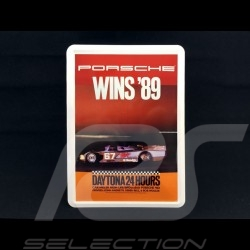 Postcard Porsche metal with envelope Porsche  962 winner 24h Daytona 1989
