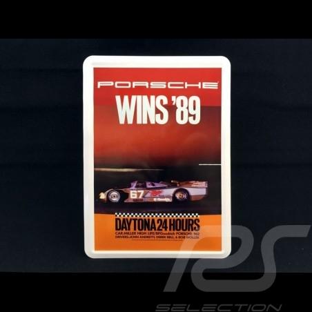Postkarte Porsche aus Metall mit Umschlag Porsche  962 winner 24h Daytona 1989