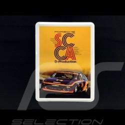 Carte postale Postcard Postkarte Porsche métal avec enveloppe Porsche 924 winner SCCA D-Production