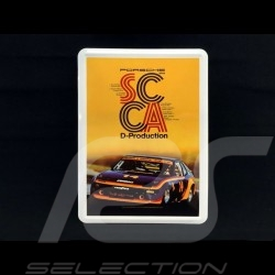 Postcard Porsche metal with envelope Porsche 924 winner SCCA D-Production
