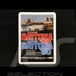 Carte postale Postcard Postkarte Porsche métal avec enveloppe Porsche 935 24h Daytona 1980