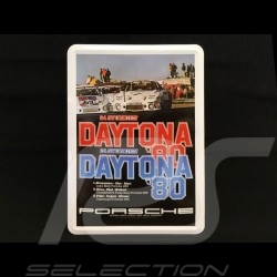 Postcard Porsche metal with envelope Porsche 935 24h Daytona 1980