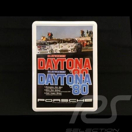 Postkarte Porsche aus Metall mit Umschlag Porsche  935 24h Daytona 1980